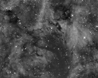 NGC 6914 close up in halpha ~ Avogadro Observatory